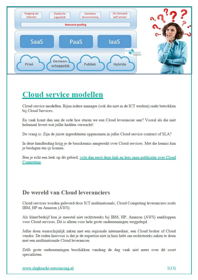 cloud modellen