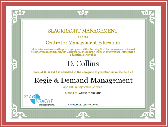 certificaat demand management