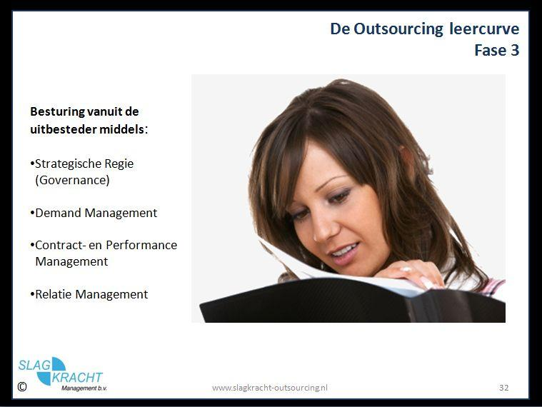 resultaat van de outsourcing leercurve in fase 3